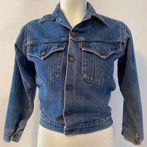 Vintage Levi's Orange Tab Denim Jean Jacket Girls